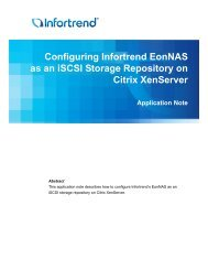Configuring Infortrend EonNAS as an iSCSI Storage ... - ASTCO
