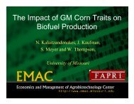 The Impact of GM Corn Traits in Biofuels - Farm Foundation