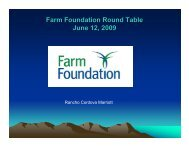 Water infrastructure. - Farm Foundation