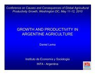 growth and productivity in argentine agriculture - Farm Foundation
