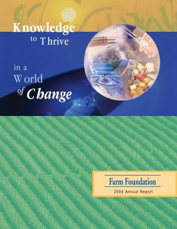 2004 Farm Foundation Annual Report