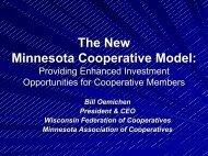 THE NEW MINNESOTA COOPERATIVE MODEL ... - Farm Foundation