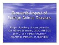 Economic Impact of Foreign Animal Diseases - Farm Foundation