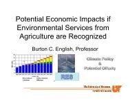 Potential Economic Impacts if Environmental ... - Farm Foundation