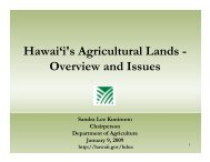 Hawai'i's Agricultural Lands - Overview and Issues - Farm Foundation