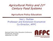 Joe Outlaw - Farm Foundation