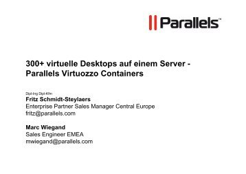 Parallels Virtuozzo Containers - ASTCO