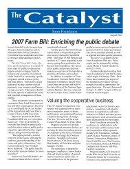 August 2007 Catalyst.indd - Farm Foundation