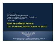 Jason Henderson Vice President and Branch ... - Farm Foundation