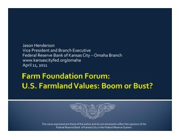 Jason Henderson Vice President and Branch ... - Farm Foundation