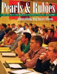 Year 104 Issue 1 (Spring 2009) - FarmHouse Fraternity