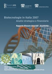 Biotecnologie in Italia 2007 Analisi strategica e - Farmindustria
