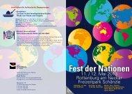 Fest der Nationen - Bündnis für Familien in Rottenburg