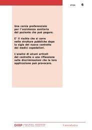 Il contratto dei medici ospedalieri: alcune ... - Farmindustria