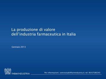 Mercato farmaceutico mondiale - Farmindustria