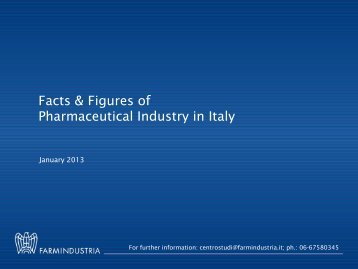 Facts & Figures of Pharmaceutical Industry in Italy - Farmindustria