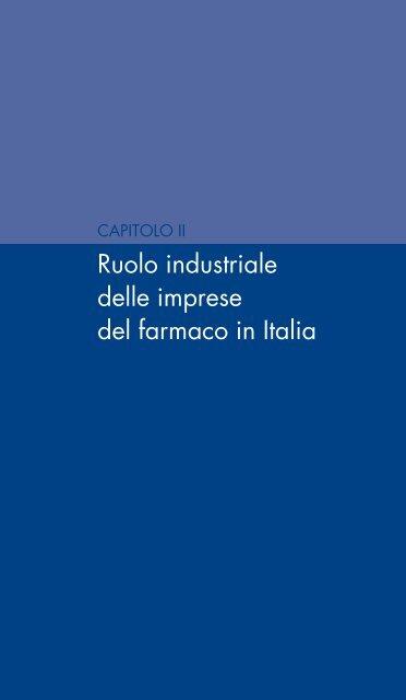 Ruolo industriale delle imprese del farmaco in Italia - Farmindustria