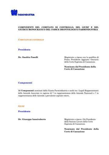 Presidente Componenti Presidente - Farmindustria