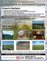Cattle Ranch in Athabasca County - Farm Marketer