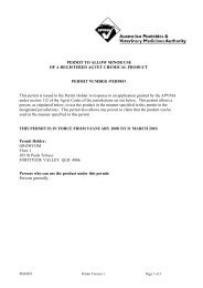PERMIT TO ALLOW MINOR USE OF A REGISTERED ... - Farmoz