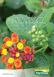 Quality Solutions in Controlling Woody Weeds - Farmoz