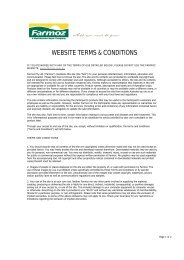 WEBSITE TERMS & CONDITIONS - Farmoz