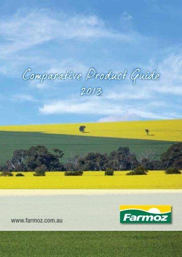 Comparative Product Guide 2013 - Farmoz