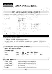 veiligheidsinformatieblad dow corning(r) 340 heat sink ... - Farnell