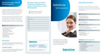 Download Flyer: Selectline Finanzbuchhaltung - Layer 2 Gmbh
