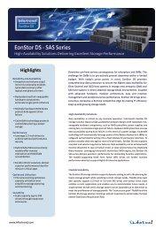 EonStor DS - SAS Series