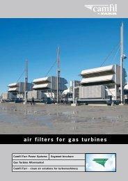 Brochure: Air Filters for Gas Turbines - Camfil APC