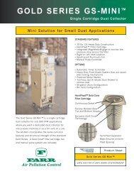Gold Series GS-Mini - Single Cartridge Dust Collector - Camfil APC