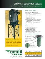 Bulletin - Gold Series High Vacuum Dust Collector - Camfil APC