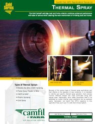 Appliacation Focus on Thermal Spray - Camfil APC