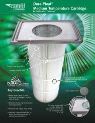 Dura-Pleat® Medium Temperature Cartridge - Camfil APC