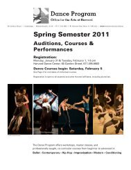 Spring Semester 2011 - Faculty of Arts and Sciences - Harvard ...