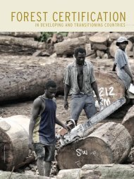 forest certification - Yale School of Forestry & Environmental Studies ...
