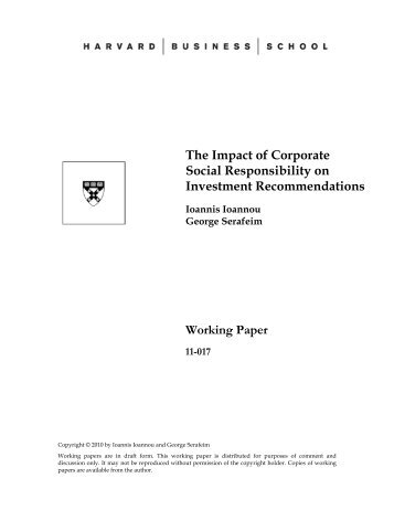 The Impact of Corporate Social Responsibility on Organizational Stability