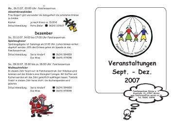 Veranstaltungen Sept. - Dez. 2007 - Familienzentrum Worms