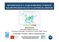implementation of a plume-in-grid model to improve sub-grid ...