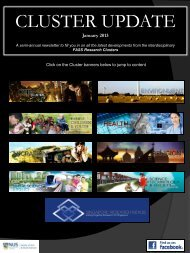 Research Clusters Spring Newsletter 2012 - Faculty of Arts and ...