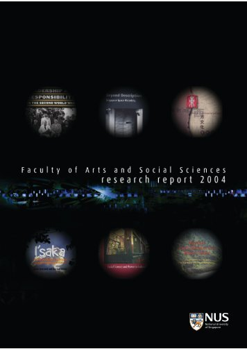 Research Report 2004 - Faculty of Arts and Social Sciences