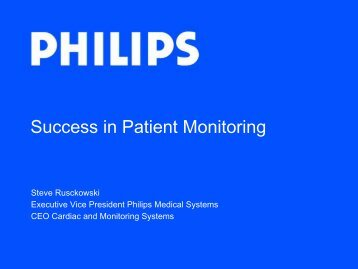 Success in Patient Monitoring