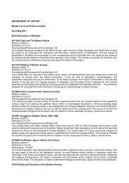 Brief Description of Modules - Faculty of Arts and Social Sciences