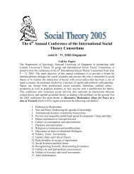 6th International Social Theory Consortium Conference