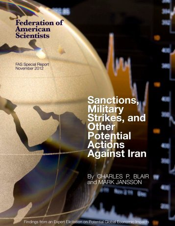 Sanctions, Military Strikes, and Other Potential Actions Against Iran