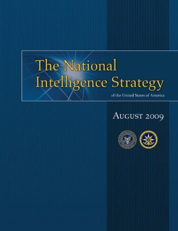 National Intelligence Strategies - Federation of American Scientists