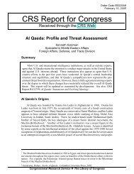 Al Qaeda: Profile and Threat Assessment - University of Maryland ...