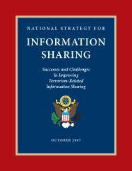 National Strategy for Information Sharing - The Nationwide SAR ...