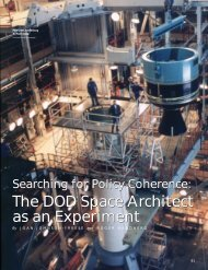 The DOD Space Architect